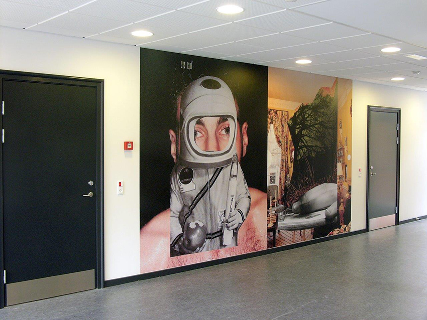 Wall paper installation, Tredium  International Danish Business Academy, 2010